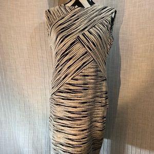 Calvin Klein Black & White Textured Sheath sz 12